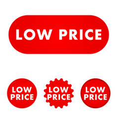 low price button vector image