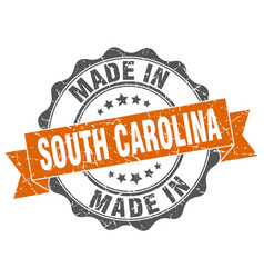 Made in south carolina round seal vector