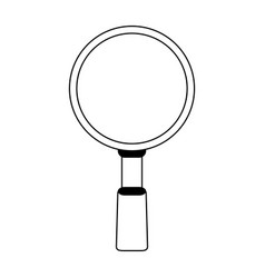 Magnifying glass silhouette vector