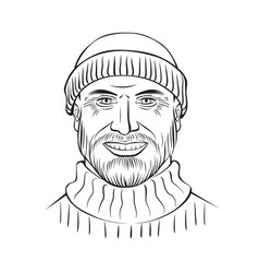 man character - coloring page for adults vector image