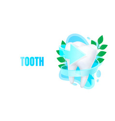medical tooth banner alternative treatment vector image