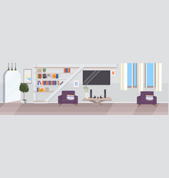 modern living room interior empty no people house vector image