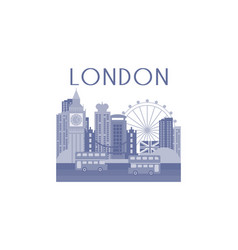 monochrome of london cityscape vector image