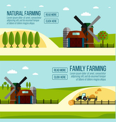 Natural and famaly farming banner vector