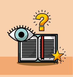 Open book question eye learning vector