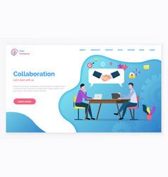 Partnership and teamwork collaboration vector