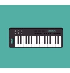 piano instrument isolated icon vector image
