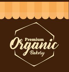 Premium organic bakery polygon vector