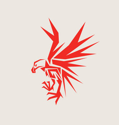 red eagle vector image