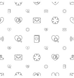 Romance icons pattern seamless white background vector