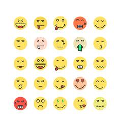 Set of colored emoji icon vector