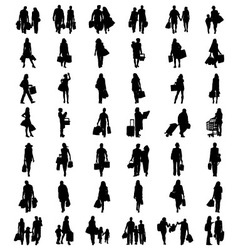 silhouettes of shopping vector image