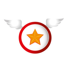 star with wings icon vector image