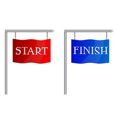 Start finish flags vector image