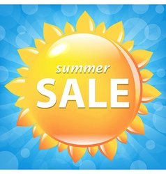 Summer Sale Poster With Sun vector image