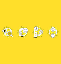 talk bubble hdd and time hourglass icons set vector image