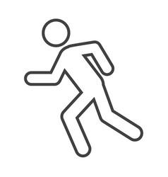 Thin line run icon vector