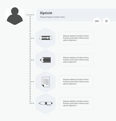 Timeline Infographic template black and white vector