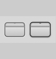 Train cart window realistic style vector