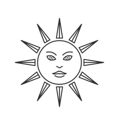 Trendy esoteric sun symbol icon vector