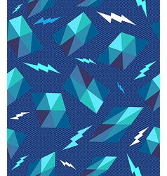 Trendy retro geometric seamless pattern vector image