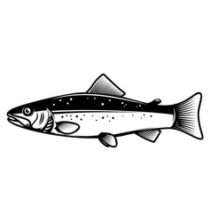 trout icon on light background design element for vector image