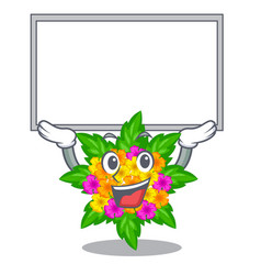 Up board lantana flowers in the mascot pots vector