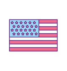 usa flag isolated icon vector image