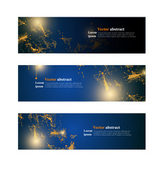website header or banner set abstract design vector image