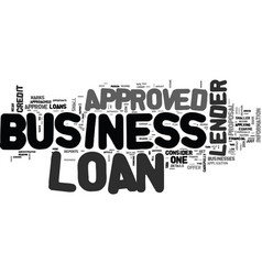 what to do if your business loan is not approved vector image