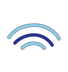 Wifi digital symbol to digital information vector
