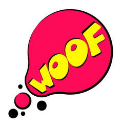 Woof sound effect icon cartoon style vector