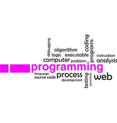 word cloud programming vector image