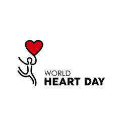 World heart day design for people health care vector