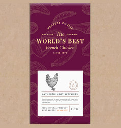 worlds best poultry abstract craft paper vector image
