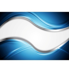 Abstract wavy metallic design vector image vector image