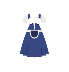 blue bavarian dress icon flat style vector image