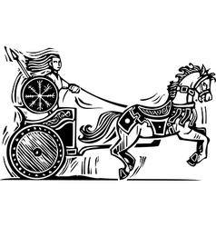 Brigid Chariot vector image vector image