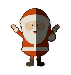 color silhouette of santa claus with open arms and vector image vector image