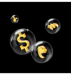 forex bubbles vector image