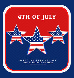 national independence day of america vector image vector image