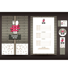 Restaurant or cafe menu design template vector