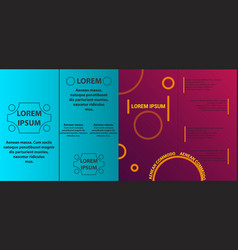 Set of brochure cover design layout with circle vector