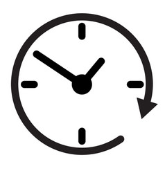 24 hour assistance clock clock iconclock icon vector image