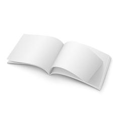 Blank open magazine template Wide format vector image vector image