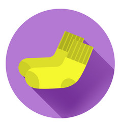 light yellow socks on a violet background vector image