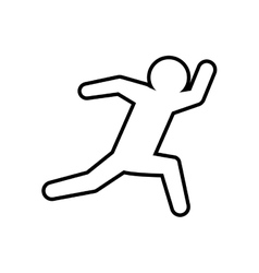 Pictogram running icon Sport design vector image