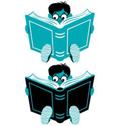 reading boy vector image vector image