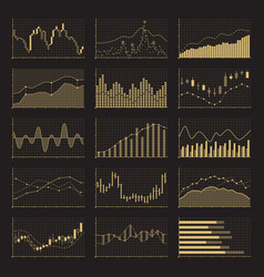 business data financial charts stock analysis vector image