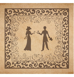 couple in louve vector image